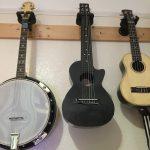 Musical instruments guitar banjo